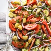 New Potato Salad with Tomatoes and Dill