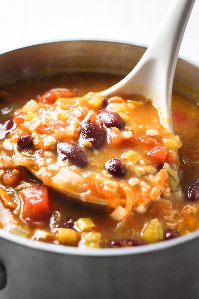 Hearty Vegetable Soup with Bulgur