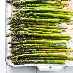 Roasted Asparagus with Balsamic Vinegar and Coconut Oil