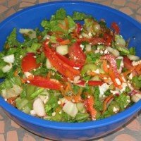Summer Salad with Feta Cheese