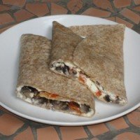 Goat's Milk Cheese and Sautéed Mushrooms Wrap