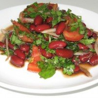 Red Bean Salad with Tomato and Fresh Herbs