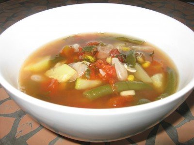 Vegetable Soup with Lima Beans (Vegan & Low-Glycemic)