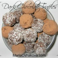 Healthy Holiday Treats - Dark Chocolate Truffles