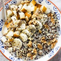 Fruit and Nut Quinoa Breakfast Bowl