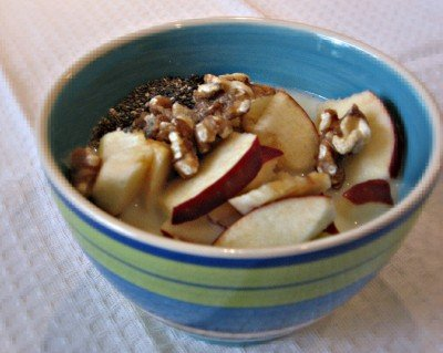 Quinoa with Fruit, Walnuts and Chia Seeds
