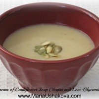 Cream of Cauliflower Soup (Vegan and Low-Glycemic)