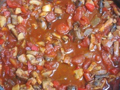 Vegan mushroom goulash.