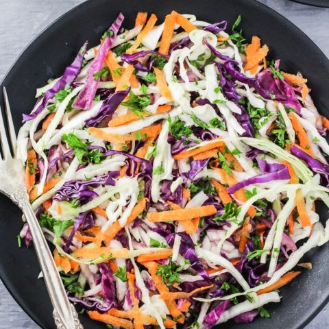 Red and Green Cabbage Salad Recipe
