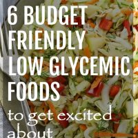 Budget Friendly Low Glycemic Foods
