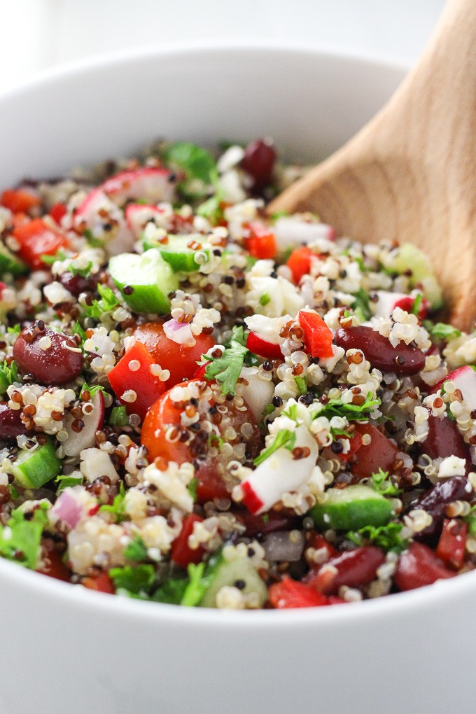 Mediterranean Quinoa Salad with Red Beans Feta
