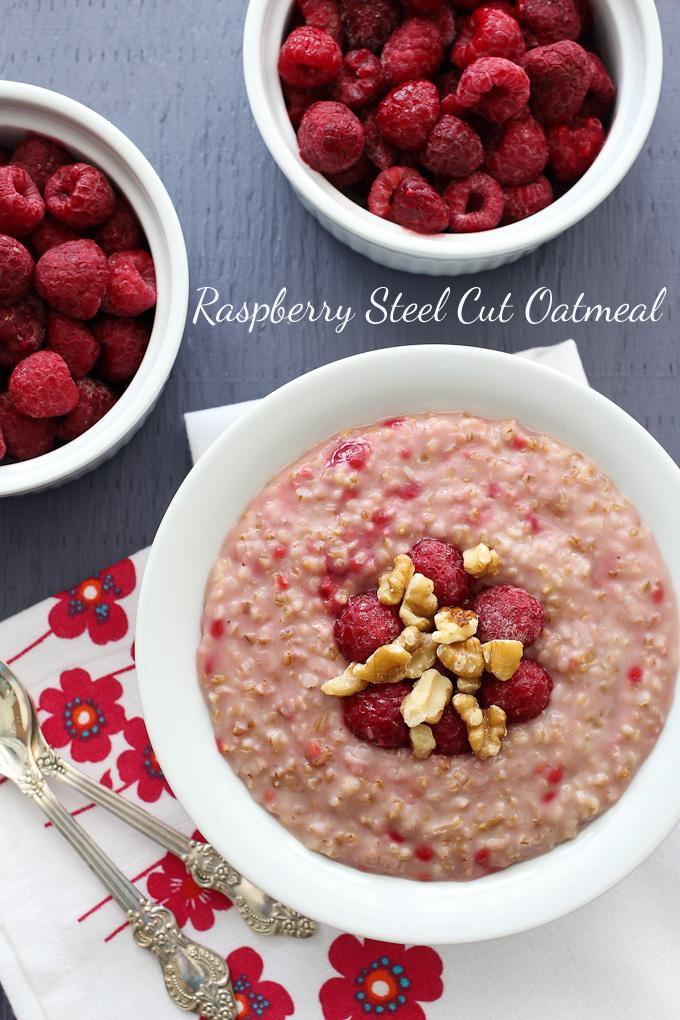 Raspberry Steel Cut Oatmeal