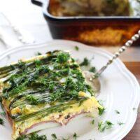 Asparagus Salmon Egg Bake
