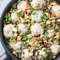Turkey Meatballs with Mushroom Sauce