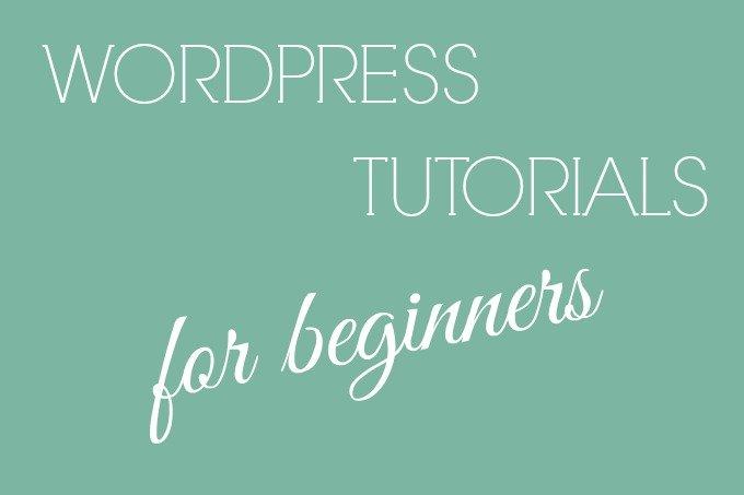 wordpress tutorials for beginners