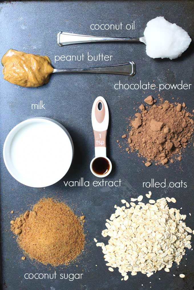 Oatmeal Peanut Butter Bites Ingredients.