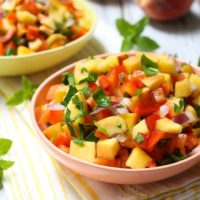 Peach Salsa with a Secret Ingredient