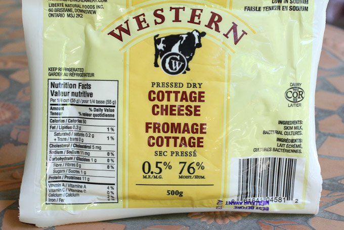 pressed cottage cheese