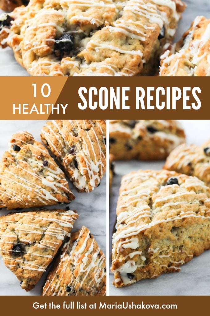 Collage of healthy scones.