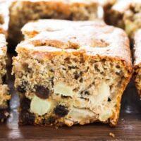 Healthy Apple Cake with Cinnamon and Raisins