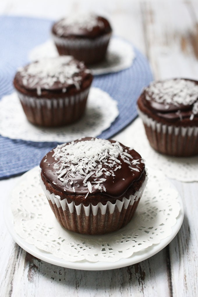 Vegan Chocolate Coconut Cupcakes