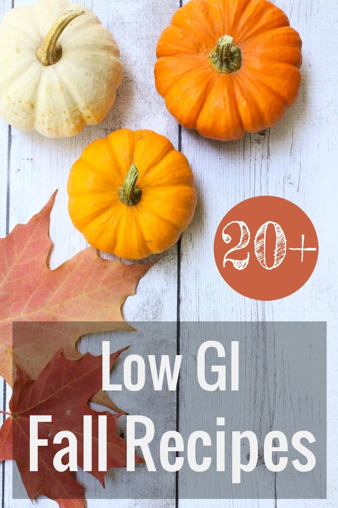 Low Glycemic Fall Recipes