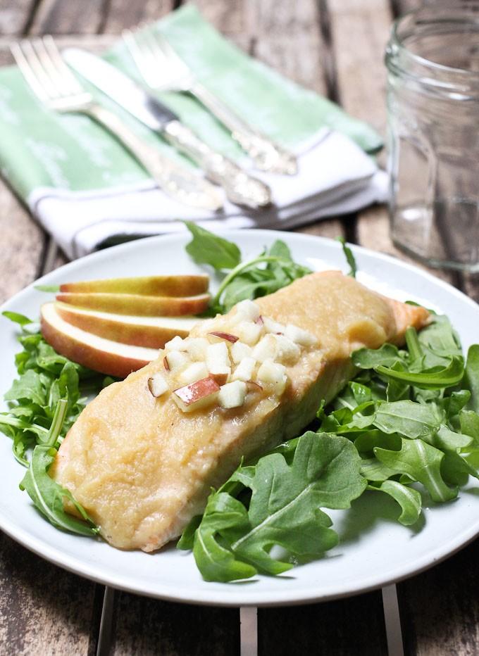 Roasted Salmon with Apple Sauce | Maria Ushakova
