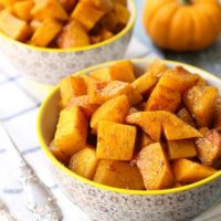 Spiced Roasted Butternut Squash with Maple Syrup