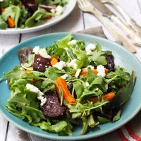 Mixed Greens Salad with Roasted Veggies
