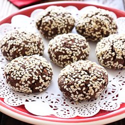 Chocolate Cookies with Sesame Seeds