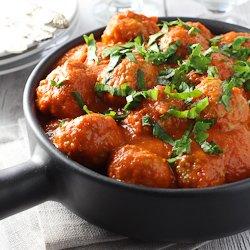 Turkey Meatballs in Red Pepper Sauce