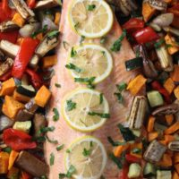 Baked Rainbow Trout with Vegetables