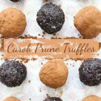 Carob Prune Truffles