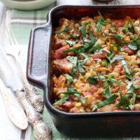chicken and green lentil casserole