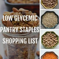 low glycemic pantry shopping list