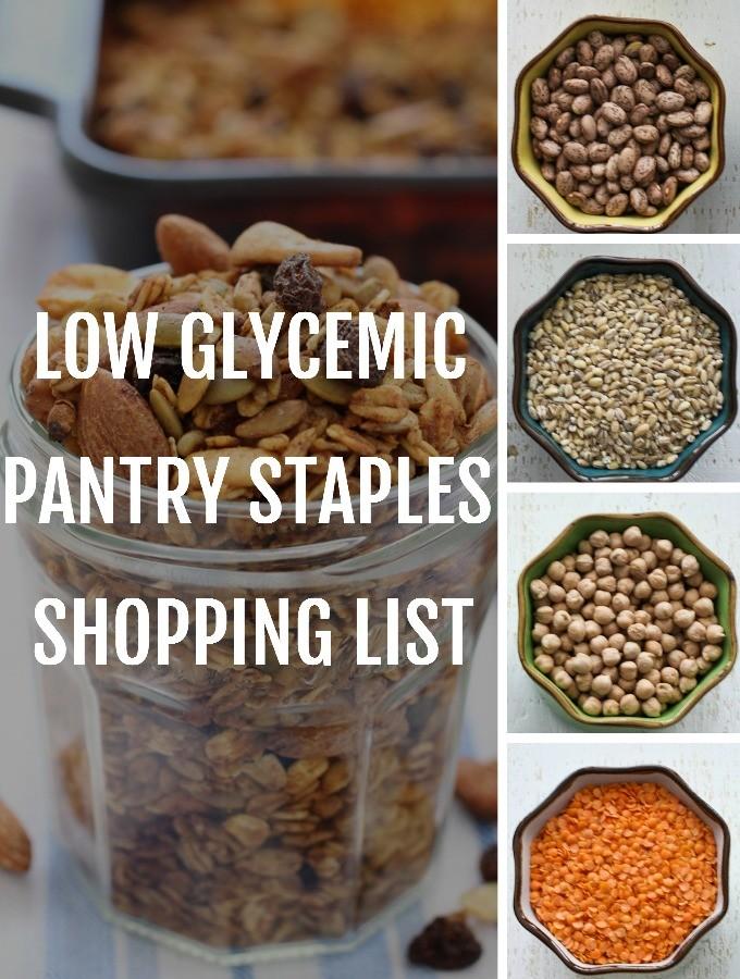Low GI Pantry Staples Shopping List