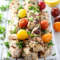 yogurt marinated chicken kebabs