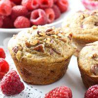 Healthy Spelt Raspberry Muffins