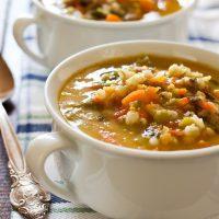 Hearty Butternut Squash Barley Soup