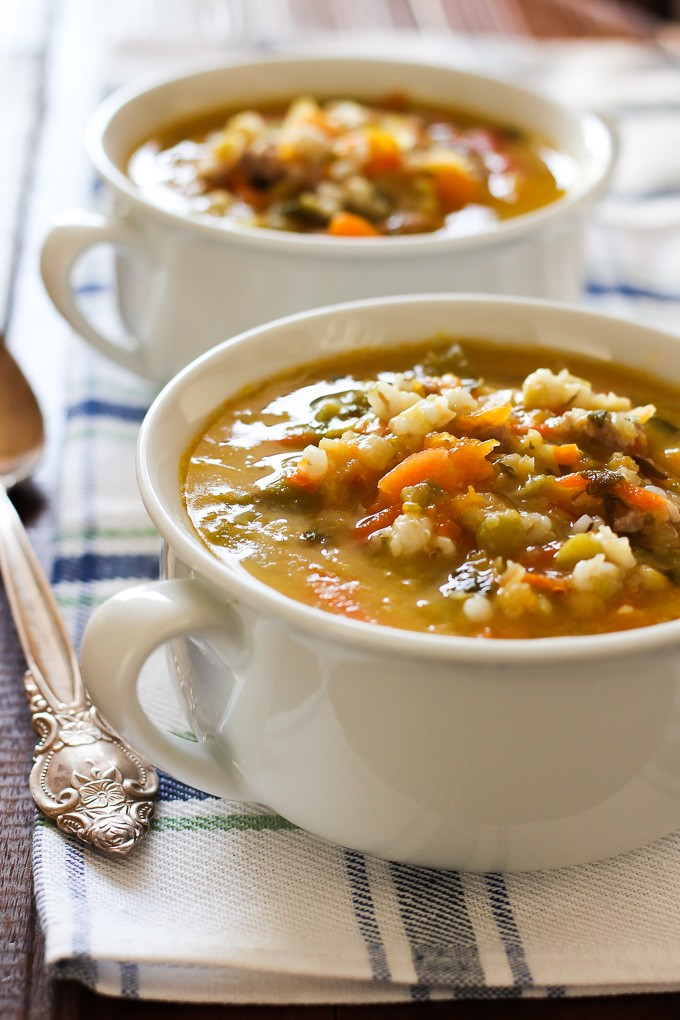 Hearty Butternut Squash Barley Soup