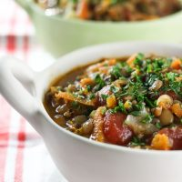 Greek Lentil Soup Faki