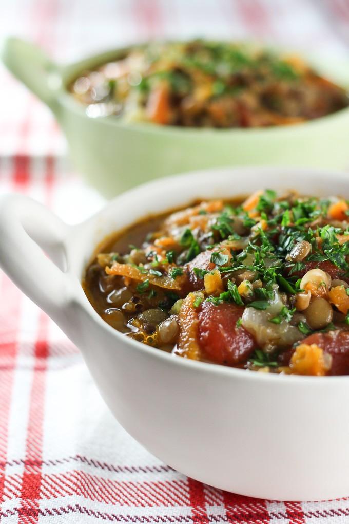 Greek Lentil Soup  Faki