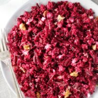 Beet Quinoa Salad with Goat Cheese and Grapefruit