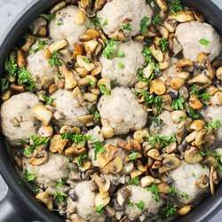 Turkey Meatballs with Dairy Free Mushroom Sauce