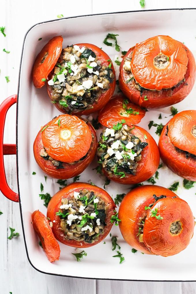 Vegetarian Stuffed Tomatoes with Feta