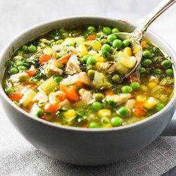 Chicken Vegetable Soup - No Noodles!