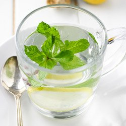 Homemade Ginger Tea with Mint