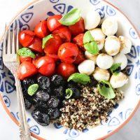 Easy Caprese Quinoa Bowl