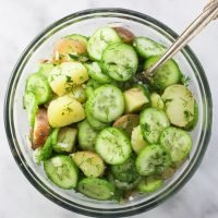 Potato Cucumber Salad with Dill and Garlic