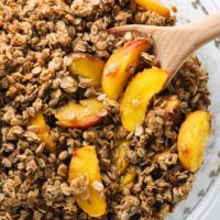 Healthy Peach Crisp - No Flour, No Cornstarch